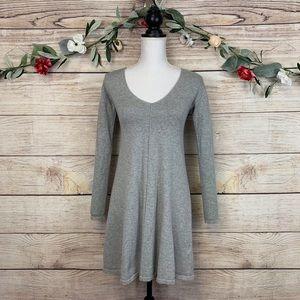 ASOS Petite 00 100% Cotton Knit Gray Sweater Dress